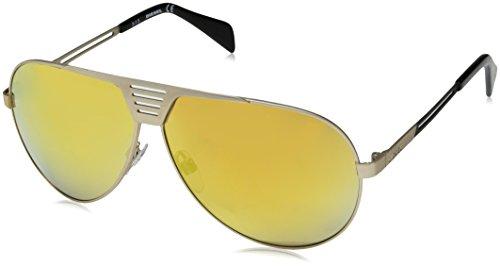 Diesel Men's DL0134 Aviator Sunglasses, Gold, 1.9 mm
