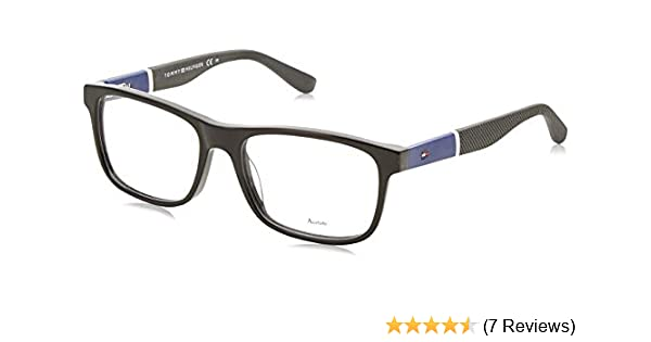 f5cf3126df6 Tommy Hilfiger 1282 Eyeglasses 0FMV Black Blue 52 mm at Amazon Men s  Clothing store