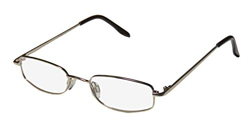 D&A Muslin Mens/Womens Designer Full-Rim Shape Adult Size Soft Nosepads Fabulous Eyeglasses/Eye Glasses (49-19-135, Gold) (D-frame Brille)