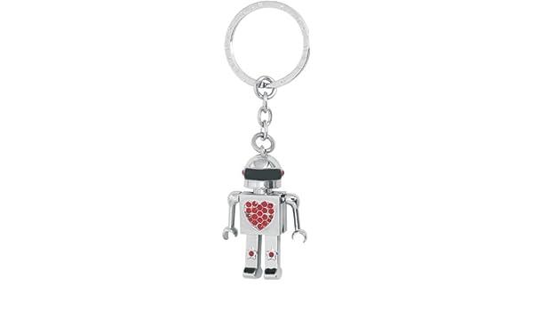 Llavero robot articulado con coraz-n rojo.: Amazon.es: Hogar