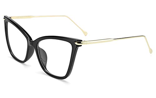 FEISEDY New Oversized Cat Eye Glasses Frame Non prescription Eyewear for Women ()