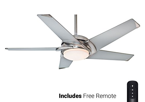 Casablanca Ceiling Fan 59094, Stealth Brushed Nickel 54 with Light Remote Included