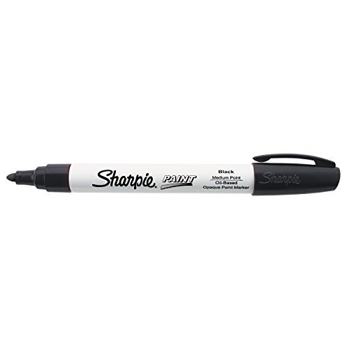 Sharpie Oil-Based Paint Marker, Medium Point, Black Ink, Pack of 3 ()