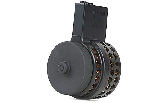 IRON AIRSOFT XProducts X-15スタイル 音感電動ドラムマガジン 1000連 M4 / M16 BK 電動ガン スタンダード 1412A B01N5RD5X4