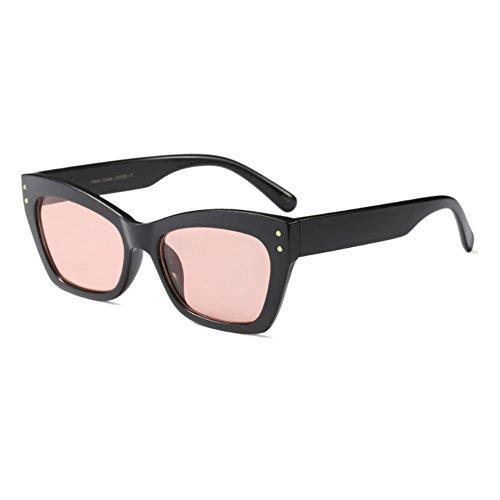 Vintage women Men Fashion Negro Brillante Polvo Inlefen Sunglass marco Sunglasses Eye Cat rectangular SwqEd586x