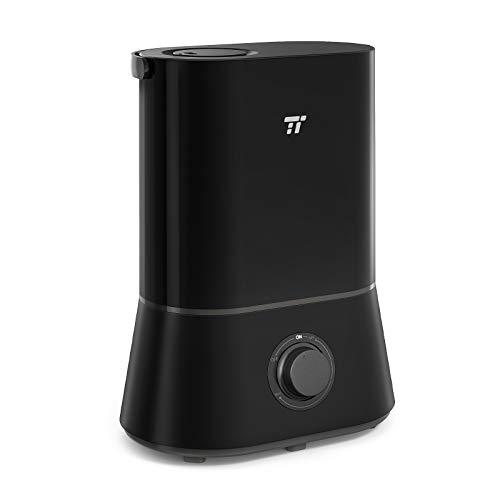 TaoTronics Cool Mist Humidifiers for Bedroom Large Room, 4L Ultrasonic Humidifier for Home Office, Nano-Coating, 12-50 Hours, Ultra Quiet, Easy to Clean, 360° Nozzle, Auto Shut-Off
