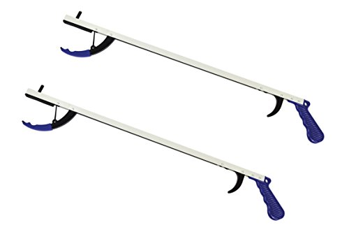 Premium Ergonomic Lightweight Reacher Grabber Tool Mobility Aid - 32 Inch - 2 Pack by MARS Wellness (Image #1)