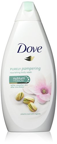 Dove Purely Pampering Body Wash, Pistachio Cream with Magnolia, 16.9 Ounce/500 Ml (Pack of 3)