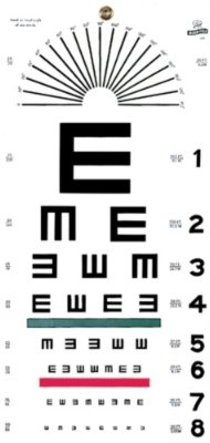 "Grafco 1241 Illiterate Hanging Eye Chart, 20' Distance, 22"" Length x 11"" Width"