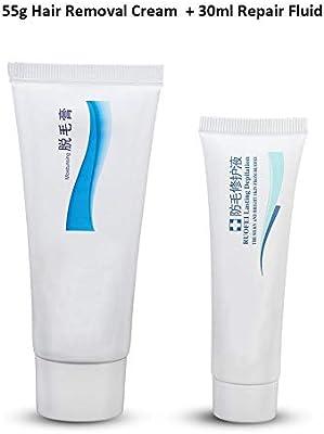 Crema de eliminación de vello sin dolor, Crema depilatoria premium ...