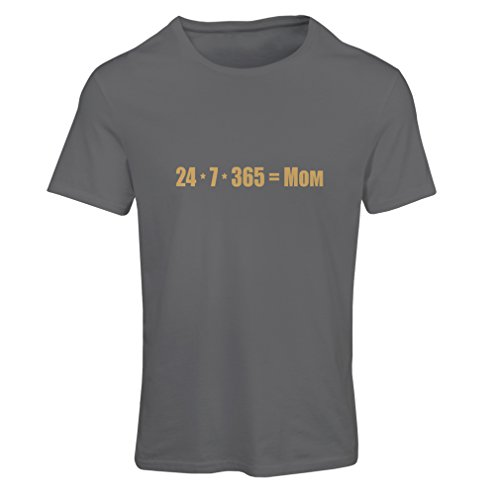 lepni.me T Shirts For Women Best Mom - Love You Mom Message - Birthday, Mothers Day, Anniversary Gifts For Her (Medium Graphite Gold)