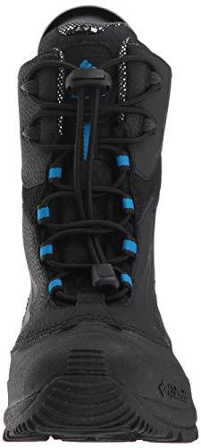 16c7396ff21 Columbia Boys' Youth Bugaboot Plus IV Omni-Heat Snow Boot, Black, Hyper  Blue, 1 Regular US Little Kid