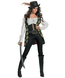 Couples Pirate Costumes (Disguise Deluxe Angelica, Multi, Large (12-14) Costume)