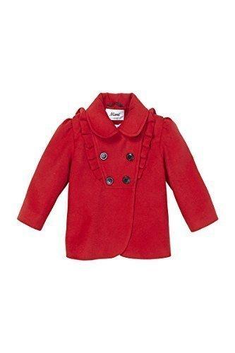 de la crème - De Chica Lindo Invierno Imitación Lana Plisado con vuelo doble botonadura abrigo: Amazon.es: Ropa y accesorios