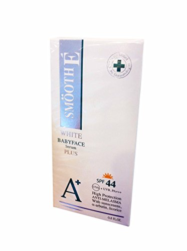 Smooth E White Babyface Serum Plus Spf 44, Anti-melasma + Anti-aging + Anti-uva/uvb + Whitening. (0.8 Fl.oz./ Pack)
