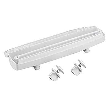 Cortador de película adhesiva, 1 Pc Nueva cocina Plástico para alimentos Envoltura de papel de aluminio Cortador dispensador Herramienta de película ...
