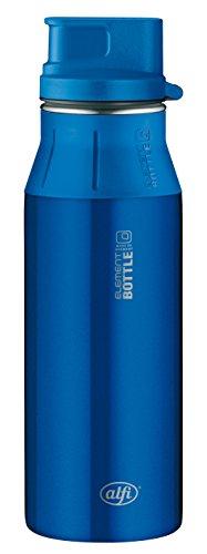 Alfi Trinkflasche elementBottle Edelstahl, Pure blau 0,6 l, spülmaschinenfest, 100% dicht