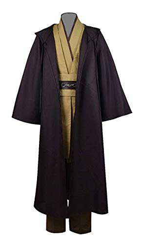 Fancycosplay Fashion Men's Classic Cosplay Robe Tunic Costume Full Set (X-Large, Brown) -