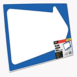 COSCO Blank White Arrow Stake Sign (COSJ1098226)