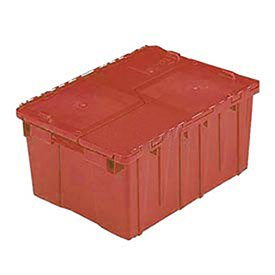 ORBIS Flipak Distribution Container, 21-13/16 x 15-3/16 x 12-7/8, Red - Lot of 6