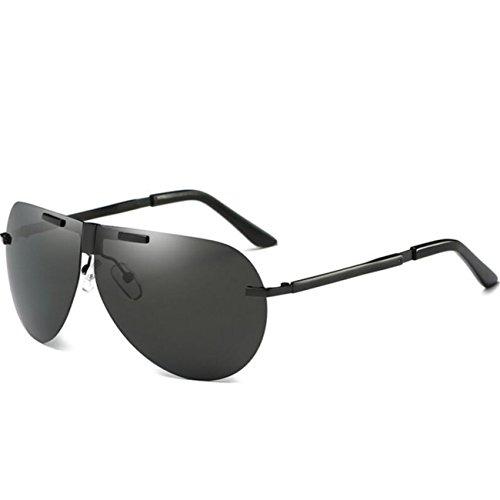 Negro de JULI Aviador Gris Lente conducción de Protección gafas polarizado sol Marco 400 UV Hombre w7Y4A7qU