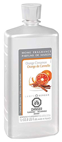 Orange Cinnamon | Lampe Berger Fragrance Refill for Home Fragrance Oil Diffuser | Purifying and perfuming Your Home | 33.8 Fluid Ounces - 1 Liter | Made in France