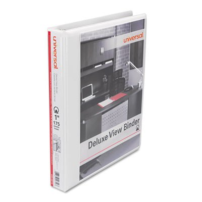 Universal 20712 Deluxe Round Ring View Binder, 1