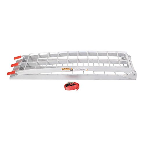 7.5' Heavy Duty Aluminum Motorcycle Bike Ramp Arched Foldable Loading Ramps New by Unknown (Image #2)