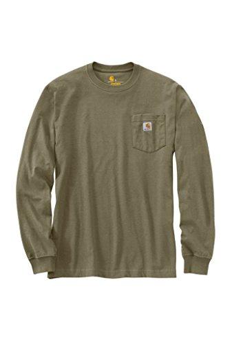 Carhartt K126 Men's LS Workwear T-Shirt Burnt Olive (Mens Ls Work Shirt)