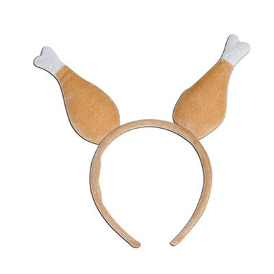 Nicky Bigs Novelties Giant Turkey Drumstick Boppers Headband, (Pack of 6), Brown, One Size