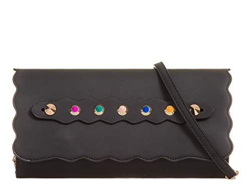 Bags 880 Handbags Clutch Evening Black 879 LeahWard Wedding Women's Studded Purse vtwOqpR