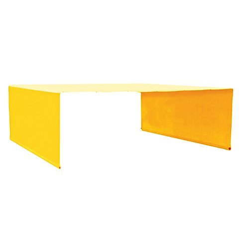 Alion Home Rod Pocket Waterproof Universal Replacement Shade Canopy Top Cover (No Grommets) for Pergola (14′ x 8′, Mango Yellow) For Sale