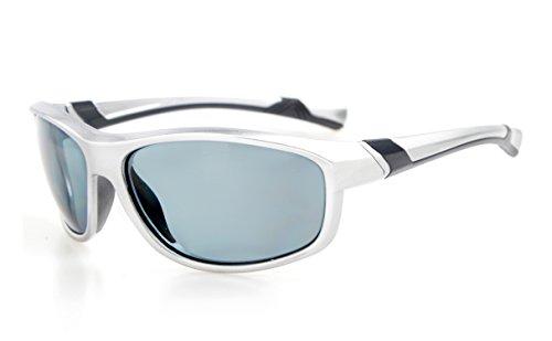 Eyekepper Polycarbonate Polarized Sport Sunglasses For Teenagers Baseball Running Fishing Driving Golf Softball Hiking TR90 Unbreakable Silver Frame Grey Lens