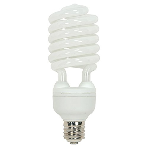 (Pack of 6) Satco S7389, 65 Watt (300 Watt) 4300 Lumens Hi-Pro Spiral CFL Natural Light 5000K Mogul Base 120 Volt Light Bulb, Compact Fluorescent Bulb by Satco