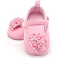 FemmeStopper Baby Girl Flower 12-18 Months(14cm) Born Infant Baby Girls Shoes First Walker Shoes