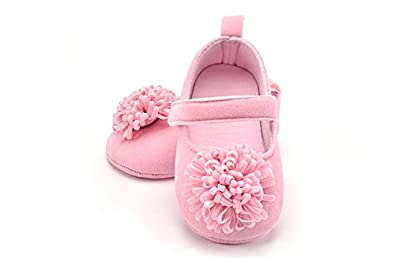 651d419d9 FemmeStopper Baby Girl Flower 12-18 Months(14cm) Born Infant Baby Girls  Shoes First Walker 1 Year Baby Shoes (Pink