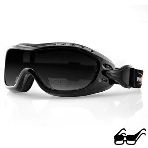 Bobster Unisex Adult Night Hawk Goggles with Smoke Lens BHAWK01