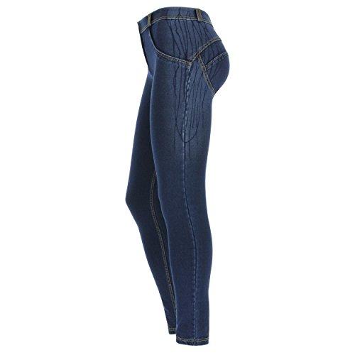 Wr Regular Skinny Scuro cuciture Gialle Effetto Pantalone Sgocciolato Vita Lunghezza up E Freddy Jeans 0t5wqfP