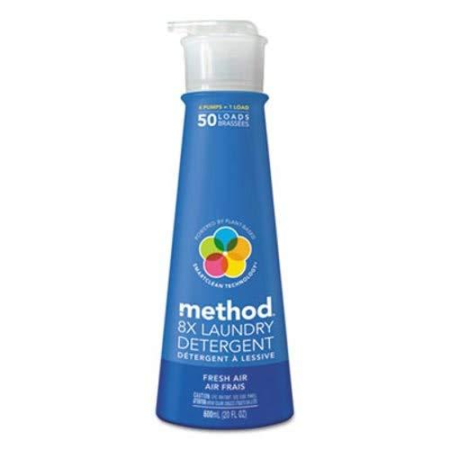 8X Laundry Detergent, Fresh Air, 20 oz Bottle, 6/Carton