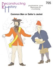 1690-1740's Common Man or Sailor's Jacket Pattern Captain Jack Sparrow Based