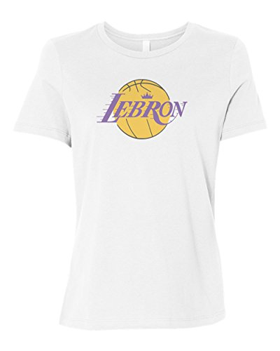 promo code cc6ef f8aa0 theSTASH Clothing Company LA Lebron Women's Relaxed T-Shirt Tee Lakers  Shirt New - White