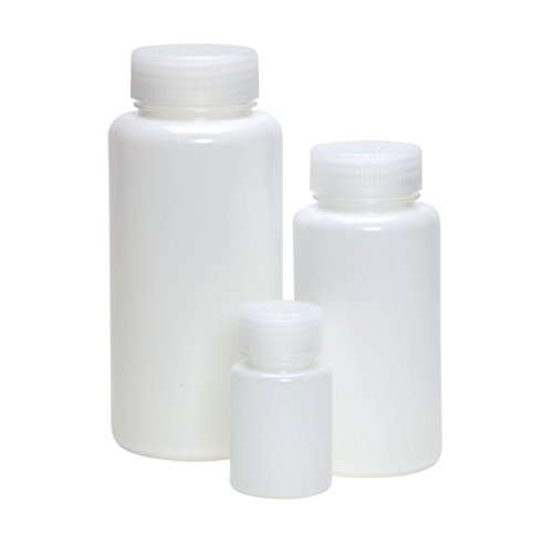 AZLON BWH0500PN Plastic, Bottle, Wide Mouth, HDPE, 500 ml (Pack of 10) (Vwr Closure)