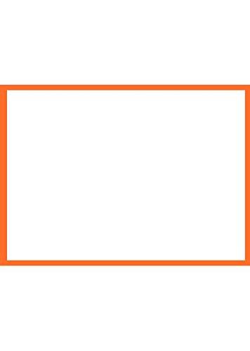 Casual Correspondence Cards (A7 Border Flat Card (5 1/8 x 7) - Mandarin Border - Orange - Pack of 50)