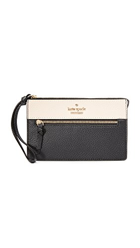 Kate Spade New York Women's Jackson Street Lancey Pouch, Black/Soft Porcelain, One Size by Kate Spade New York