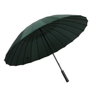 RF Paraguas hombre exterior largo mango King Sunny Rainy day dos paraguas Paraguas negro con mango
