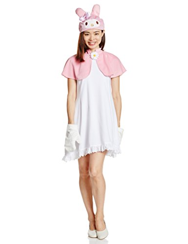 [Sanrio My Melody Costume Ladies 155cm-165cm 95665] (Melody Costume)