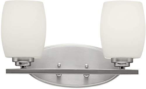 - Kichler 5097NIL18 Eileen Vanity, 2-Light LED 20 Total Watts, Brushed Nickel