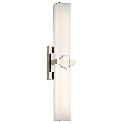Bordeaux Bath Sconce (Kichler Lighting 45877PNLED LED Linear Bath from the Bordeaux Collection)