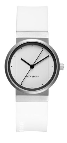 Jacob Jensen 764 Ladies All White Watch
