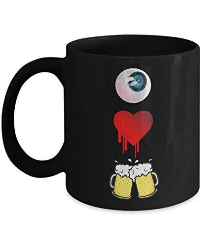 Lplpol I Love Beer Mug Halloween Funny Eye Heart You Costume Coffee Cup -